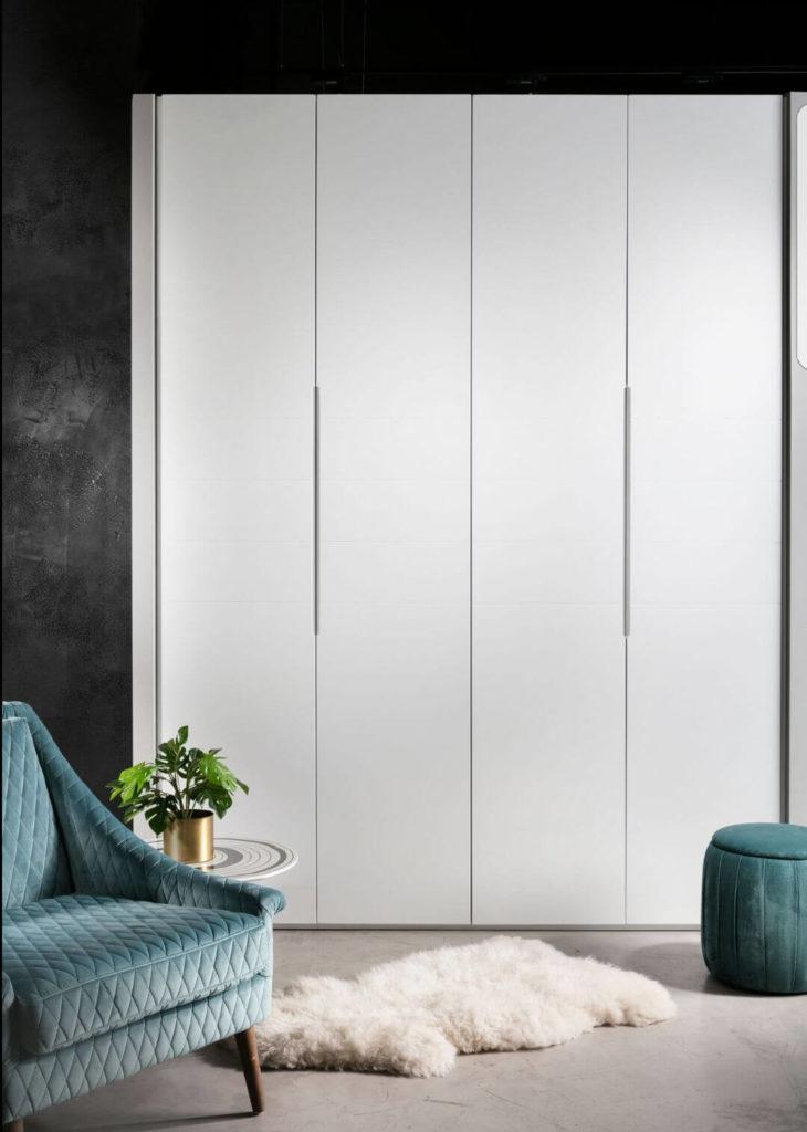 ארון 4 דלתות לבן מודרני