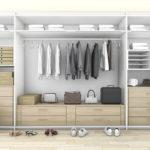 חדר ארונות לבן בעיצוב מודרני